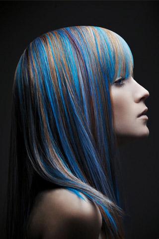 Колорирование кончиков волос
