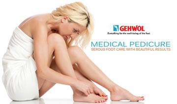 Косметика для ног Gehwol которая используется для педикюра в салоне Акварель