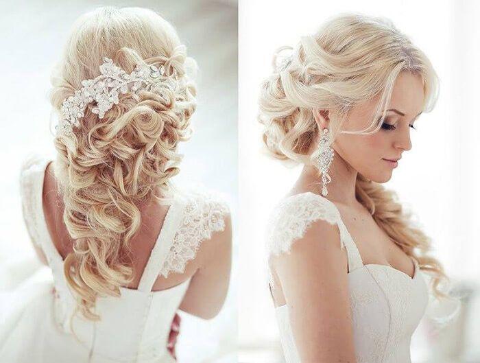 Свадебные прически на основе кос в Киеве
