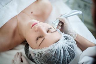 Воздействие ультразвука на кожу лица